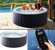 Silver Cloud Portable Inflatable Quick Heating Round Hot Tub Indoor or Outdoor