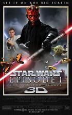 "STAR WARS EPISODE 1 PHANTOM MENACE 3D 2012 Orig DS 2 Sided 27x40"" Movie Poster"