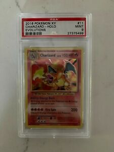 🔥 2016 Pokemon Charizard Base Set Evolutions XY Holo #11 - STRONG PSA 9 Mint 🔥