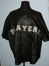 Vintage 90s Moxie The Collection PLAYERS Short Sleeve Leather Jacket 4XL