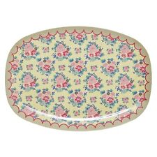 RICE Melamine plate in dutch rose print