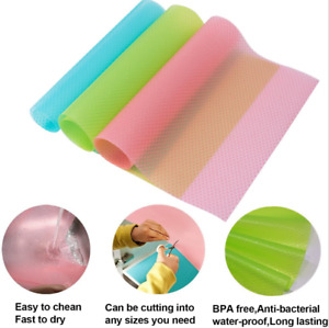 1/4 Pcs Anti Slip Fridge Liner Mat Easy Clean Kitchen Cabinet Pad Fast Free UK
