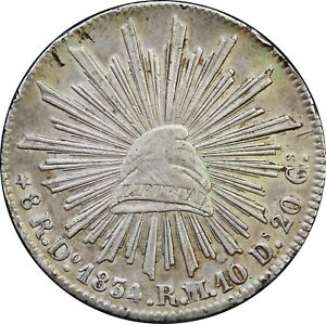 Mexico 8 Reales Do 1834 R.M. Durango Mint. KM# 377.4