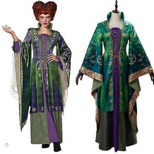 Hocus Pocus Winifred Sanderson Cosplay Costume Halloween Outfit Dress Uniform