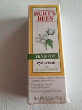 Burt's Bees Sensitive Eye Cream w/ Cotton Extract 0.5 oz Free US Ship