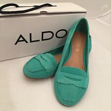 ALDO GORELIAN Woman's Genuine Leather Flats - Greenish Aqua Size 7.5 NIB