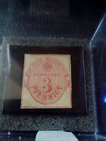 RARE ORIGINAL Hannover 1853 3 Pfennig GERMANY EMPIRE STAMP TIMBRE Mi6 MP-500EURO