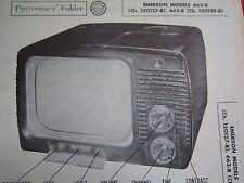 EMERSON 662-B & 663-B TELEVISION PHOTOFACT