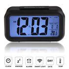 Digital Backlight LED Display Table Alarm Clock Snooze Thermometer Calendar Time
