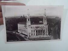Nostalgic Vintage Real Photo Postcard  CIVIC HALL LEEDS, 138 §D303