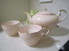 Aynsley Pastel Pink Vintage Teapot and two cups
