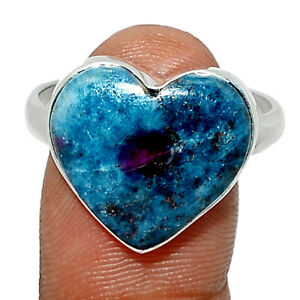 Heart - Ruby In Kyanite 925 Sterling Silver Ring Jewelry s.10 BR83865