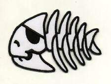 Fishbone Skull Animal Skeleton Retro P698 Embroidered Iron on Patch High Quality