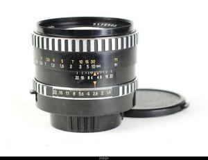 * Lens Zeiss Pancolar Zebra 1.4/55mm No.7172403 Glass Yellow  Pentax M42 Mint-