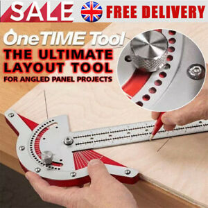 Woodworkers Edge Rule 0-70° Adjustable Protractor for Craftsman Machinist Tools