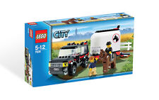Lego City 7635 4WD with Horse Trailer New In Box RETIRED SET!! Free Shipping.