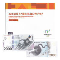 South Korea 2000 Won, 2018, P-58, Winter Olympics, Banknote, In Folder, UNC