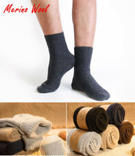5 Pairs Mens 95% Wool Cashmere Dress Solid Warm Thick Thermal Winter Socks