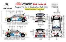 [FFSMC Productions] Decals 1/18 Peugeot 205 Turbo 16, Nouvelle Zélande 1986