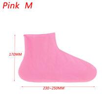Fashion Men Women Shoes Antiskid Waterproff Reusable Raincoat BOOTS Cover HH Pink M