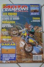 MOTO CRAMPONS N°106 YAMAHA 250 WR KTM EXC PETERHANSEL FAURE RALLYE DAKAR 1994