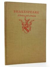 """""""SHAKESPEARE: A REVIEW AND A PREVIEW - MacKail, J.W. & Milton, John & et al, . """""""