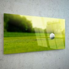 Wall Art Glass Print Canvas New Picture Large Sport Golf Ball 34739666 100x50cm