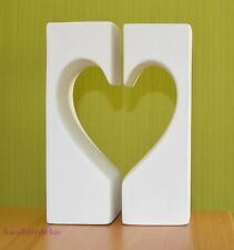 Teelichthalter Set Herz Keramik creme Liebe Hochzeit Dekofigur