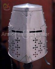 Mittelalterlicher Helm Ritterhelm Royal Reenactmen t sca larp Geschenk