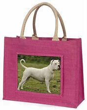 American Staffordshire Bull Terrier Dog Large Pink Shopping Bag Chri, AD-SBT9BLP