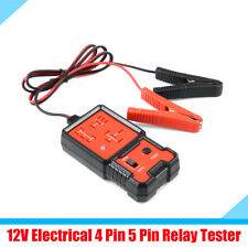 DC 12V Vehicle Car SUV Relay Tester Test Tool with LED Indicator Plastic & Metal