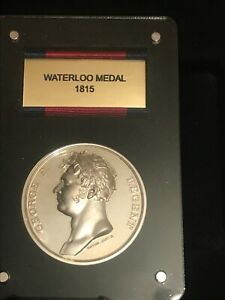 Extremely Rare 1815 Silver Proof Waterloo Medal