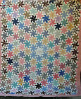 Vintage+Antique+KANSAS+TWISTER+QUILT+HAND+SEWN+HAND+PIECED+FEED+SACK+FABRIC