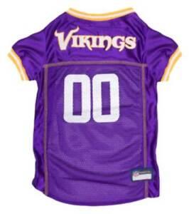Pets First NFL Minnesota Vikings Screen Printed Mesh Dog Jersey - Purple/Yellow