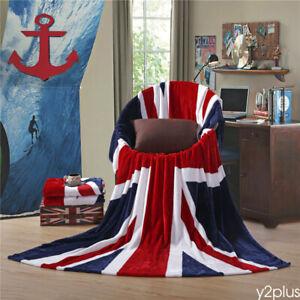 Soft Blanket Union Jack Mink Throw Blanket Bedspread Bed Sofa Camping Picnic