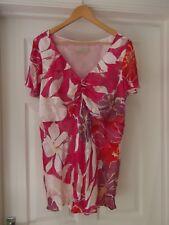 ANN HARVEY Top White/Pink/Red/Yellow/Purple Floral Print Silk Blend UK Size 22