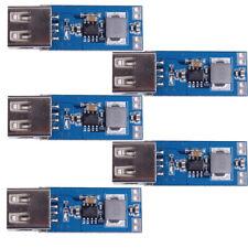 5Pcs DC-DC 3V/3.3V/3.7V/4.2V to 5V 2A USB Step Up Power Module Boost Converter