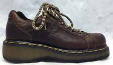 DR MARTENS Sz 5 UK 7 US Women's Brown Leather 6 Eye Oxfords Shoes England