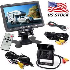"12V-24V 7"" TFT LCD Rear View Monitor Vehicle Backup Camera System for Bus Truck"