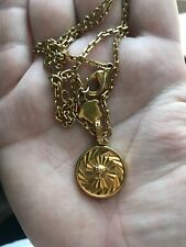 Versace Gold Necklace Medusa Small