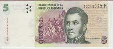 ARGENTINA BANKNOTE P353, 5 PESOS (2013) SERIES H, UNC