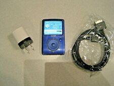 SanDisk Sansa Fuze 4GB FM/MP3 Player MicroSD slot Blue