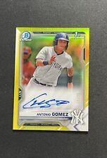 New listing 2021 Bowman Chrome Antonio Gomez 1st Auto Yellow Refractor /75 New York Yankees