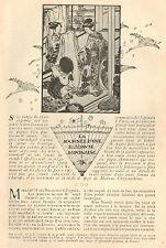 JAPON JAPAN NIPPON JOURNEE D' UNE ELEGANTE ARTICLE DE PRESSE 1907