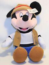 "18"" Disneyland  Mickey Mouse Plush Stuffed Animal Large Brown hat Vest Blue Pant"