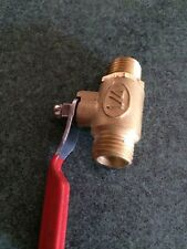 """Ball Valves 1/4"""" Brass. Male/male Pack of 4"""