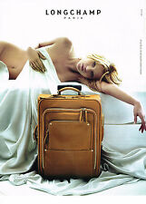 PUBLICITE ADVERTISING   2006   LONGCHAMP  collection bagages KATE MOSS