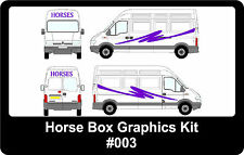 Horse Box Graphics, Available In Any Colour, Graphics Kit #003