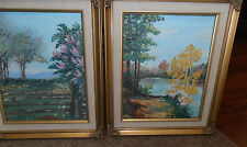 Lot of 2 Landscape Oils Tucson Arizona 1 is Spring by Claire Tandy 1 is signed
