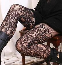 Vintage French Crochet LACE Mid-Thigh Pantyhose Hoisery